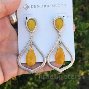 Kendra Scott Vintage Yellow Earrings